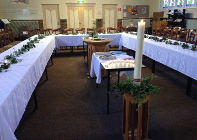 De tafels staan klaar