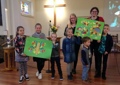 Vlinders gemaakt door de kindernevendienst