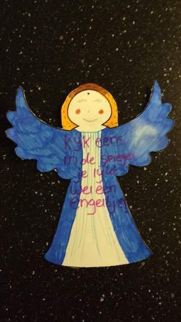 blauw-gele engel