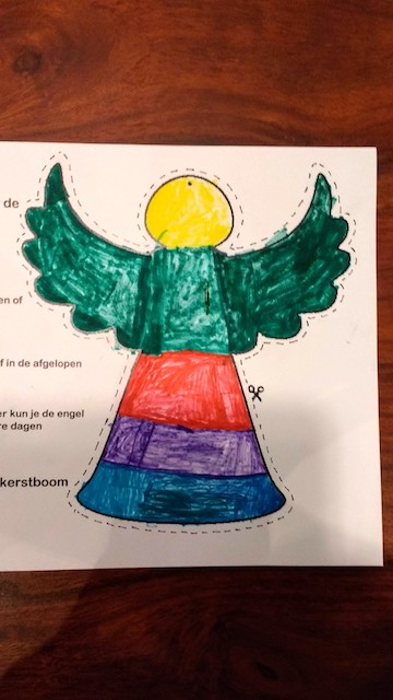 engel gekleurd