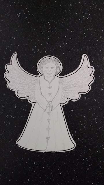 engel geschetst