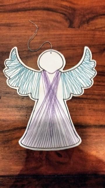 geborduurde engel