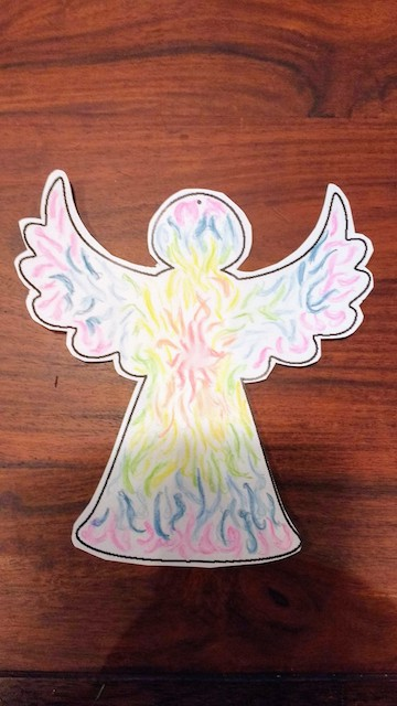getekende engel