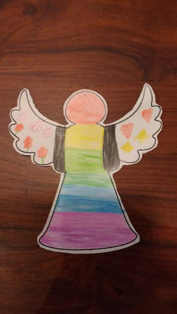 nog een regenboog engel