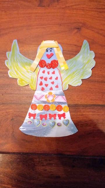 vrolijke engel