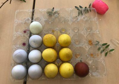 er worden ook nog eieren geverfd