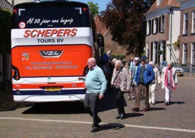 De bus komt aan