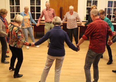 In de grote zaal van de loge werd er gedanst
