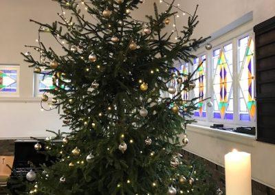 staat de kerstboom in De Bleek